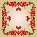 Valentines heart frame Greeting ornaments vintage vector Stock Photos