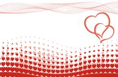 Valentines heart halftone background in vector Royalty Free Stock Photo