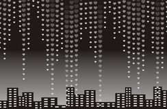 Valentines heart halftone background in vector Royalty Free Stock Images