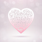 Valentines heart with holidays greeting Stock Images