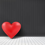 Valentines Heart In Interior Room Dark Wall Background Royalty Free Stock Photos