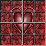 valentines Heart locked away Stock Photo