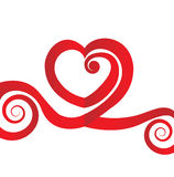 Valentines heart love swirly design Royalty Free Stock Photos
