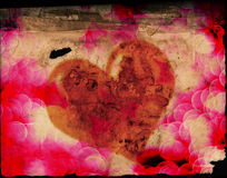 Valentines Heart on Old Paper Royalty Free Stock Photo