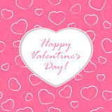 Valentines heart on pink background Stock Photo