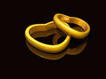 Valentines Heart rings Royalty Free Stock Photos