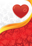 Valentines heart and roses background royalty free illustration
