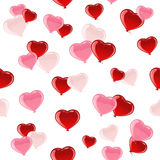 Valentines heart seamless background Royalty Free Stock Photos