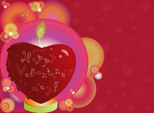 Valentines heart shaped candle Stock Photos