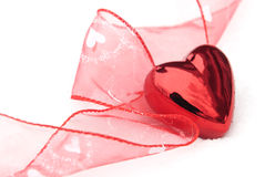 Valentines Heart In The Snow Royalty Free Stock Photos