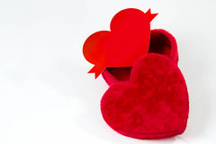Valentines heart soft candy box  Stock Photography