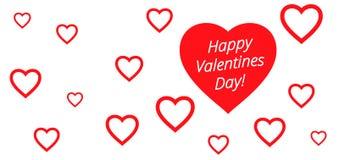 Valentines heart. Vector illustration. Royalty Free Stock Photo