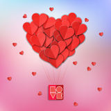 Valentines heart. Vector illustration. Stock Photos