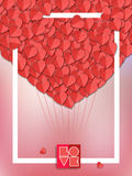 Valentines heart. Vector illustration. Royalty Free Stock Photography