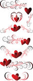 Valentines hearts Stock Image