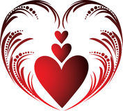 Valentines hearts stock illustration