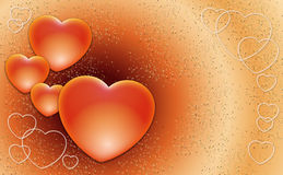 Valentines hearts. Many Valentines hearts on a sweet background Stock Photo