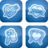 Valentines Hearts. Valentine time concept icons depicting different love issues, from left to right, top to bottom Stock Images