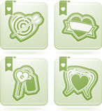Valentines Hearts. Valentine time concept icons depicting different love issues, from left to right, top to bottom Stock Photography