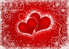 Valentines hearts blank Royalty Free Stock Photo