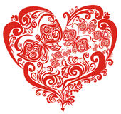 Valentines Hearts with butterfly, vector stock image