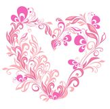 Valentines Hearts with butterfly. Vector Stock Image