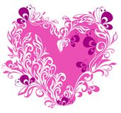 Valentines Hearts with butterfly. Vector  Stock Photo