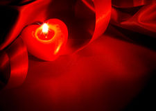 Valentines Hearts Candle Royalty Free Stock Photo