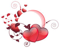 Valentines hearts and floral elements Royalty Free Stock Photo