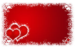 Valentines hearts frame Royalty Free Stock Image