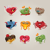 Valentines hearts icons set Stock Images