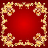 Valentines Hearts and ornaments red frame vector Royalty Free Stock Photo