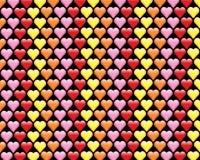 Valentines Hearts Pattern Background Illustration Royalty Free Stock Photo