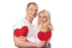 Valentines with hearts Royalty Free Stock Photo