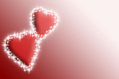 Valentines  hearts with stars Royalty Free Stock Photo