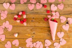 Valentines hearts still life Royalty Free Stock Photos