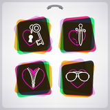 Valentines Hearts Stock Photo