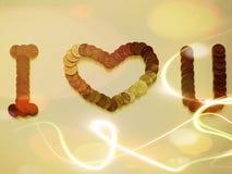 Valentines heureuses à votre aimé avec la carte cadeaux magnifique Images libres de droits