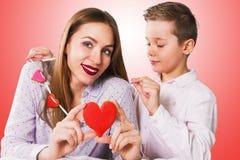 Valentines heureuses ou fête des mères photo stock