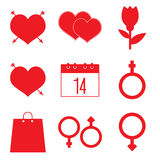 Valentines icon set Royalty Free Stock Images