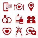 Valentines icon set vector illustration