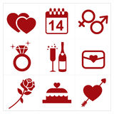 Valentines icon Royalty Free Stock Photography
