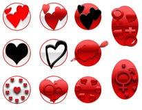 Valentines Icons Stock Image