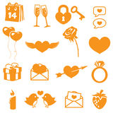 Valentines Icons Stock Images