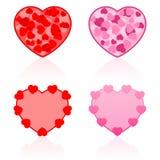 Valentines Icons Hearts Stock Photos