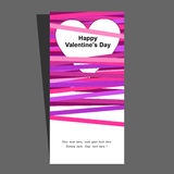 Valentines invitation violete pink Royalty Free Stock Photos