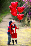 Valentines kids Royalty Free Stock Images