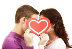 Valentines kissing Royalty Free Stock Photography