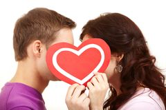 Valentines kissing Royalty Free Stock Photos