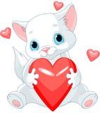 Valentines Kitten Stock Image